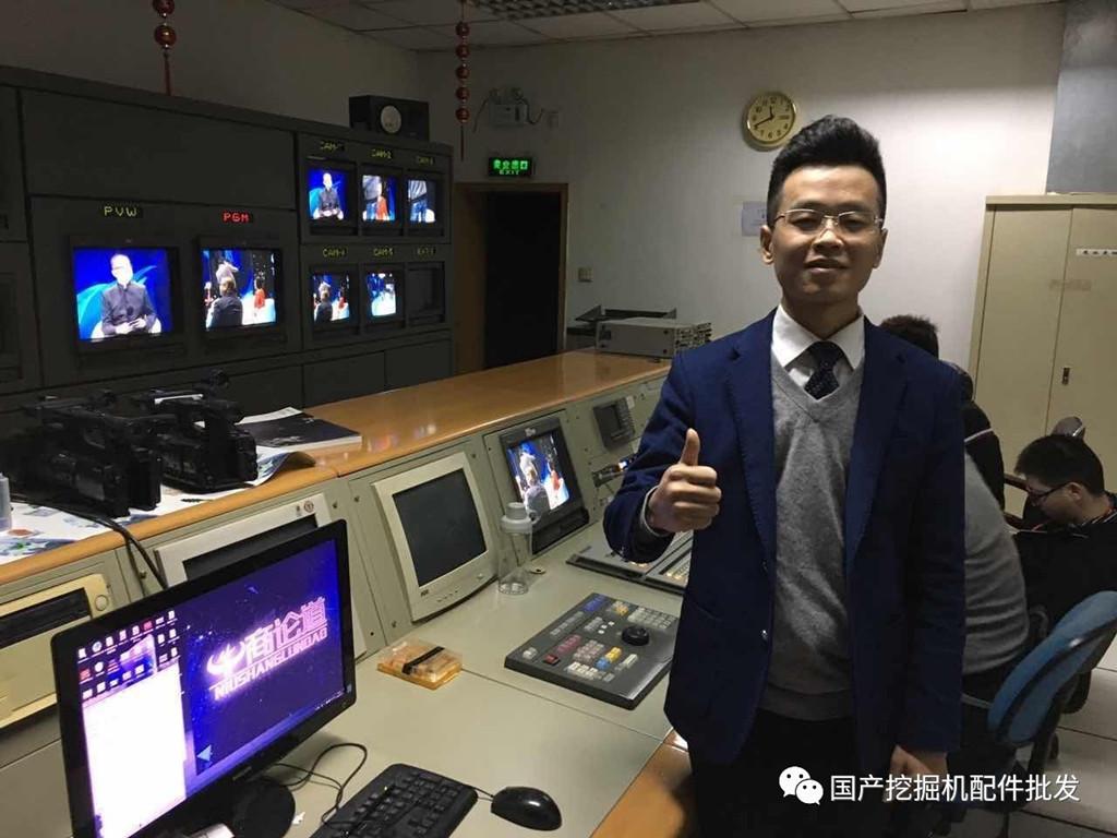 蒋金龙总经理在CCTV演播厅后台