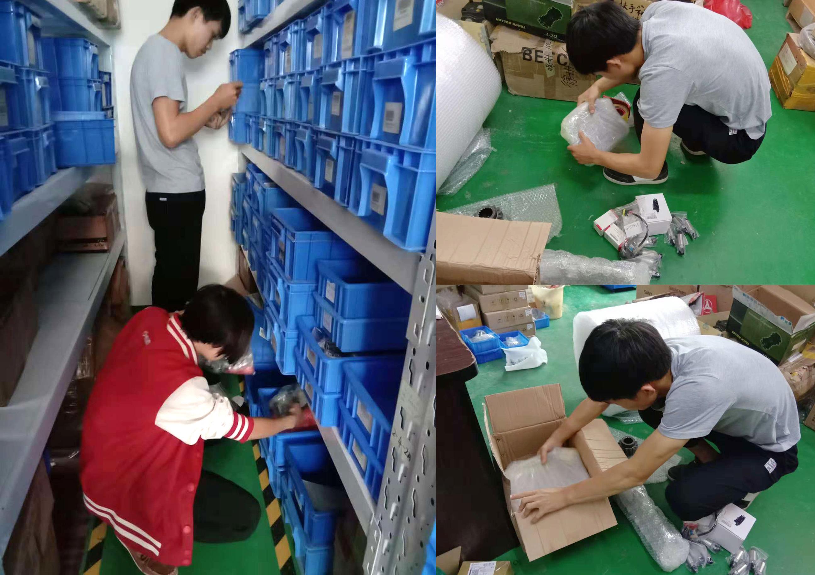 桂之邦丰富的挖机配件资源、专业的仓储中心