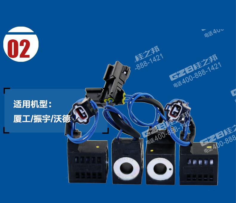 41b0110-1|厦工/振宇/沃德挖掘机电磁阀线圈28vdc(16w图片