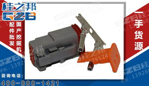 二芯插头DT06-2S 徐工挖掘机配件 803600409